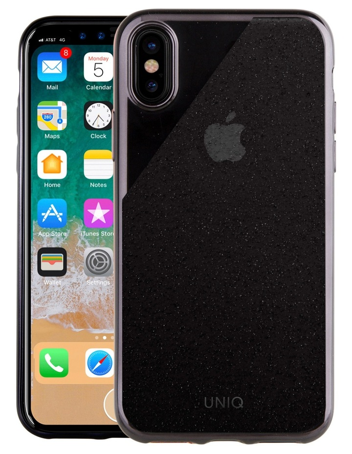 Glacier Glitz Tinsel Edition Case for iPhone X - Onyx Black image 1
