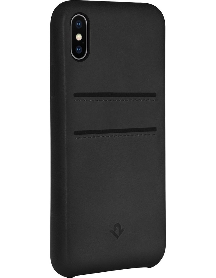 Relaxed Leather Case with Pockets for iPhone X - Black image 1