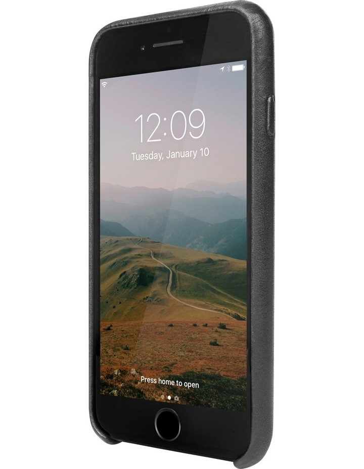 Relaxed Leather Case for iPhone 8 / 7 - Black image 2