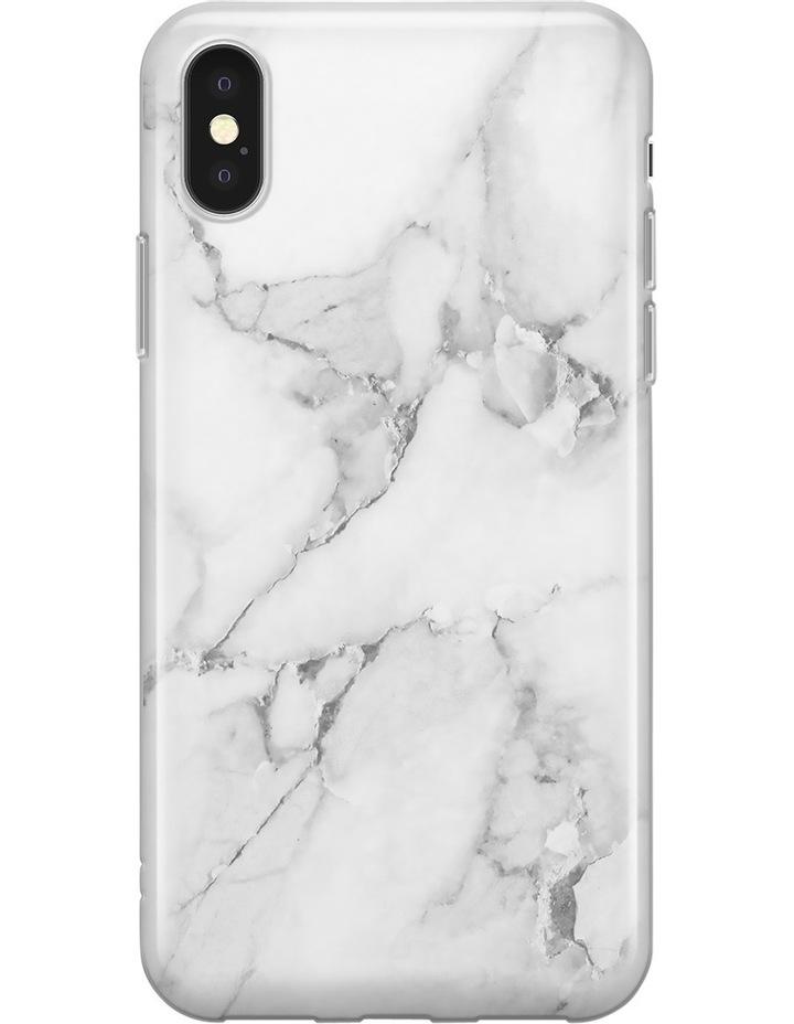 White Marble Slim Print iPhone X/Xs Case image 1