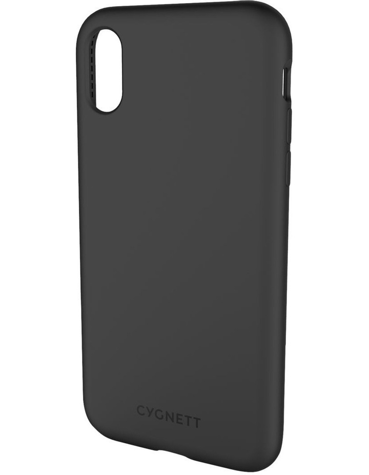 Skin Soft feel Case for iPhone Xs, X - Black image 1