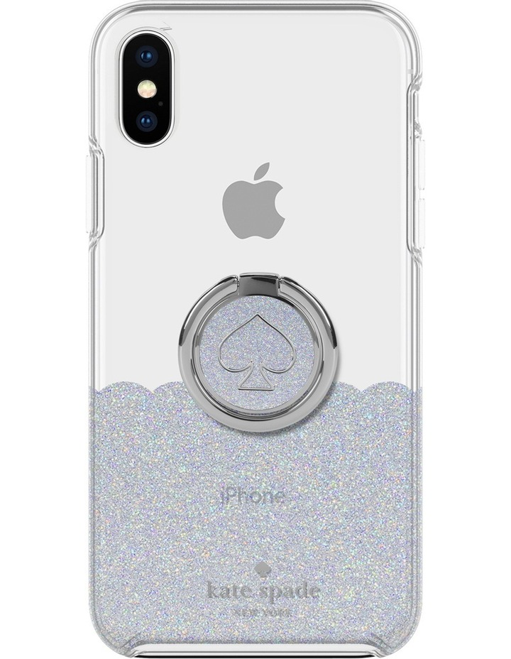 Gift Set Glitter for iPhone XS - Ring Stand & Hardshell Case image 2