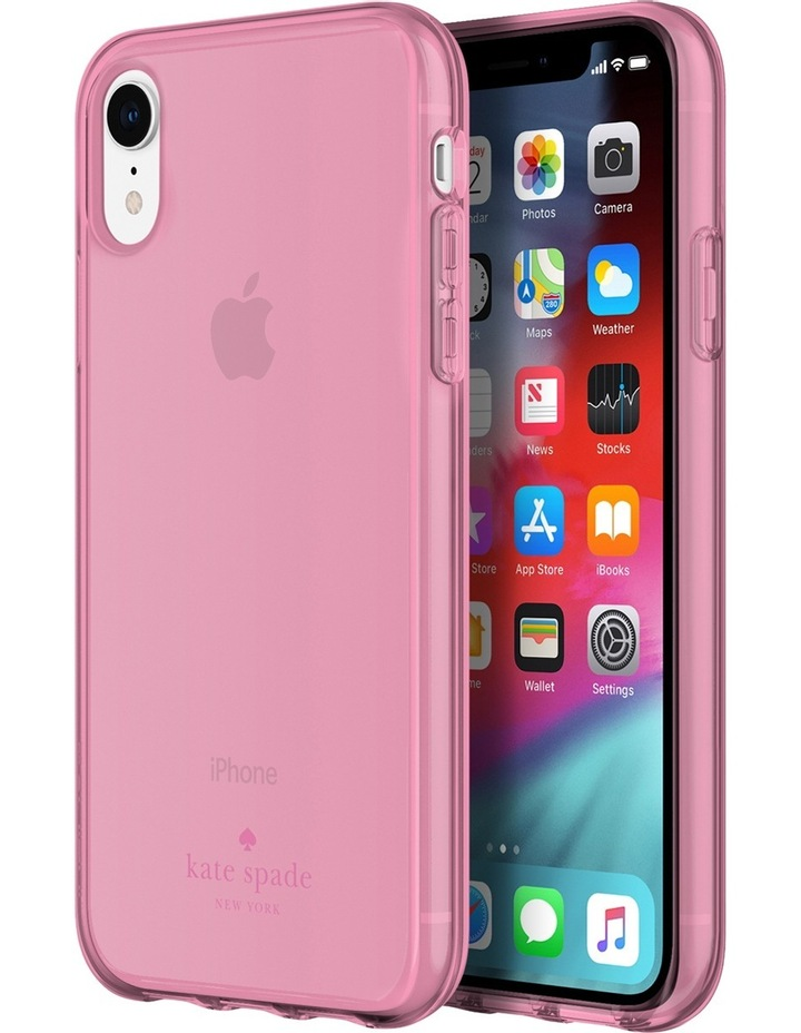 Flexible Case for iPhone XR - Pink Tinted TPU image 1