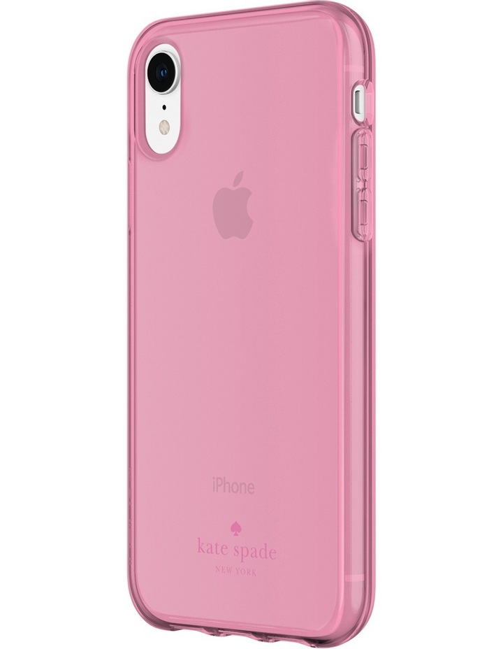 Flexible Case for iPhone XR - Pink Tinted TPU image 2
