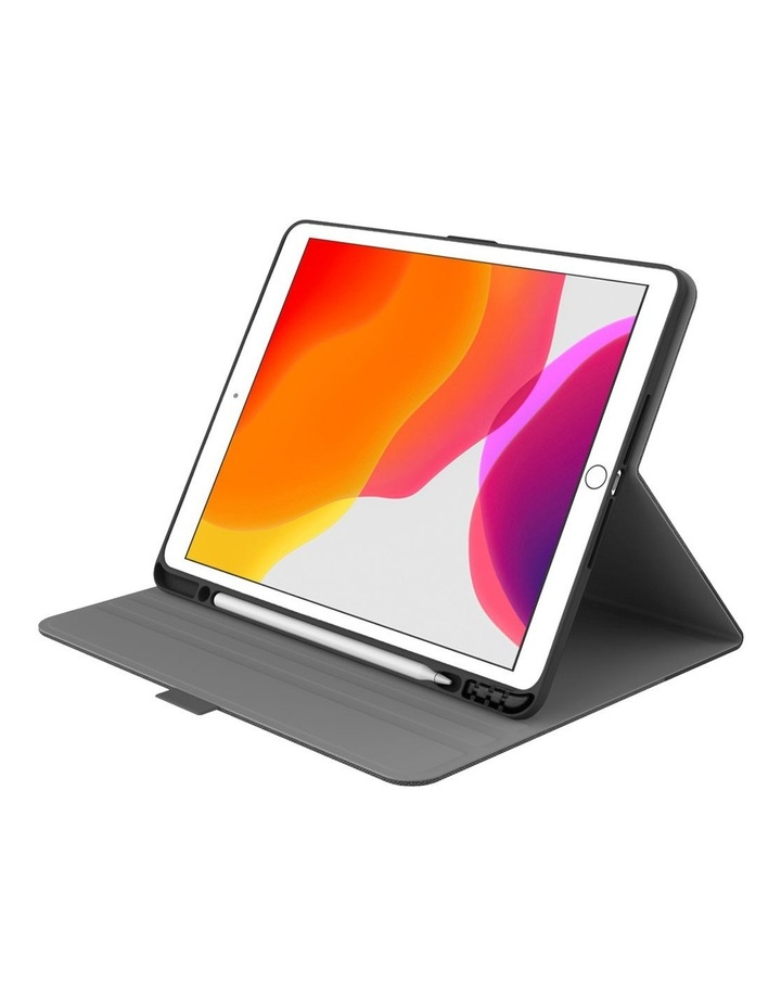 TekView with Apple pencil holder TPU shell for iPad 10.2'' - Grey/ Black image 1