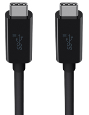 USB-C to USB-C Cable - Black