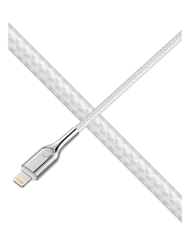 Armoured Lightning to USB-A Cable Braided White 1m image 5