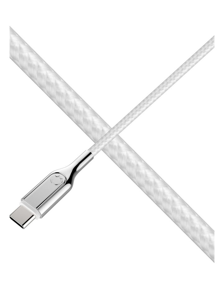 Armoured USB-C to USB-A Cable (USB 2.0) Braided White 2m image 5