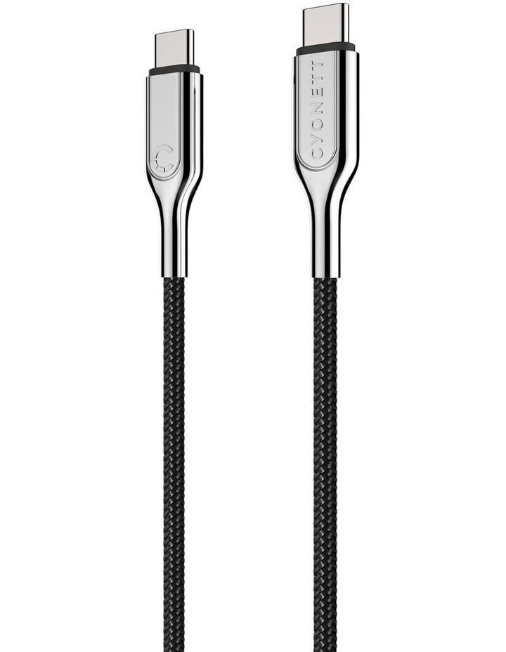 Armoured USB-C to USB-C Cable (USB 2.0) Braided Black 2m image 5