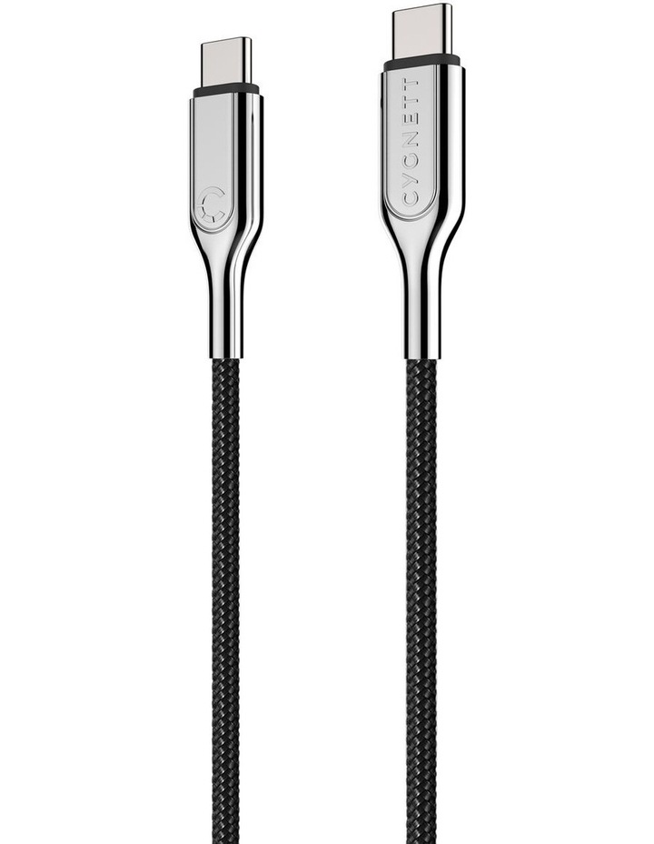 Armoured Black 1m USBC to USB-C Braided Cable 3.1 image 3