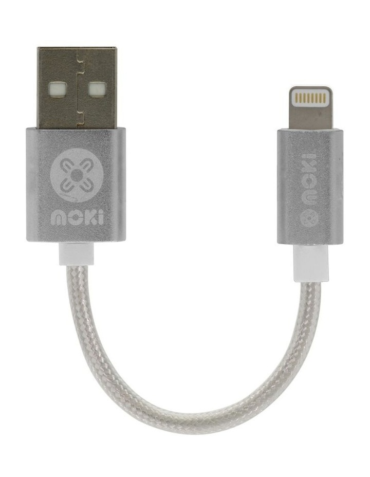 Braided Pocket Lighting SynCharge Cable - Silver image 1