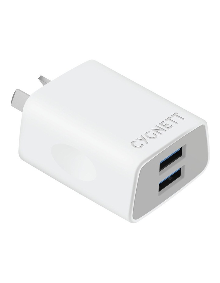 Flow   Dual USB Wall Charger - White image 1