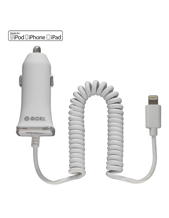 Fixed Lightning Car Charger- White image 1