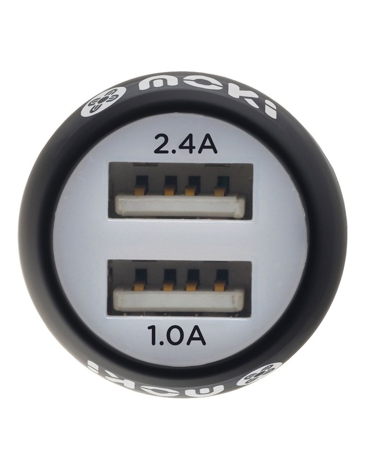 Dual USB Car Charger - Black image 2