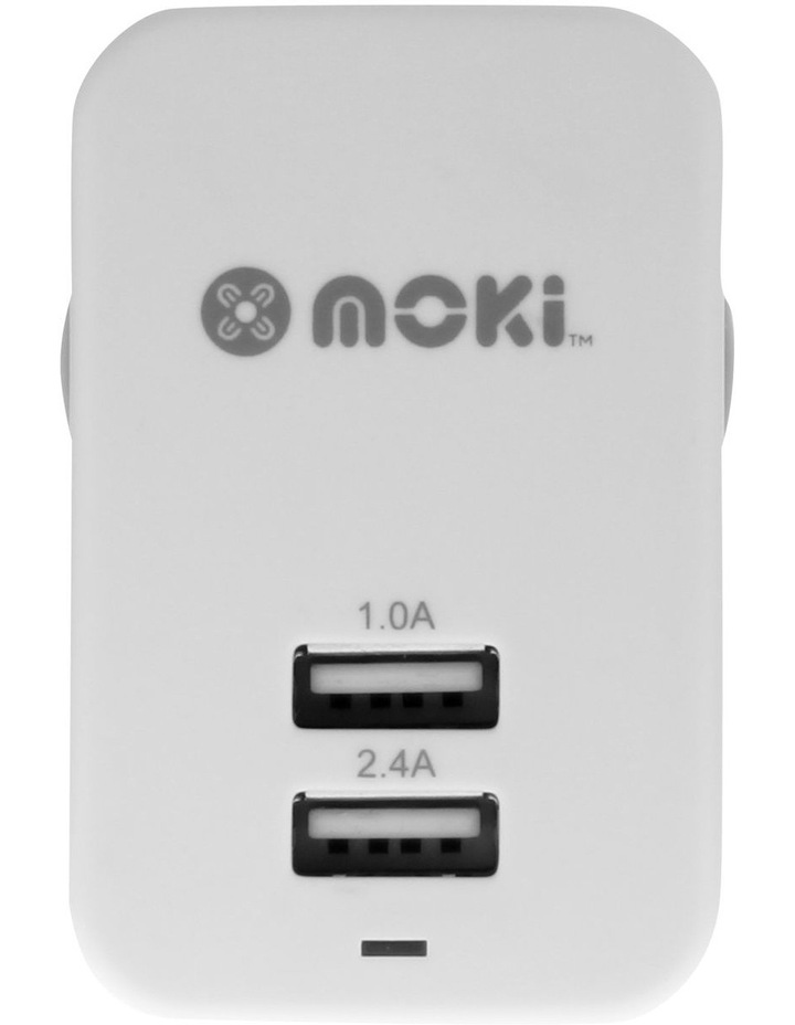 Dual USB Wall Charger - White image 1