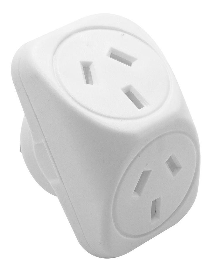 Double Adaptor Angled - White image 1