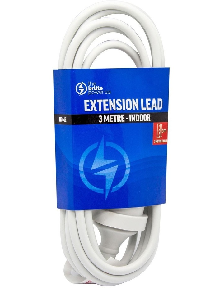 Extension Lead 3m - White image 1