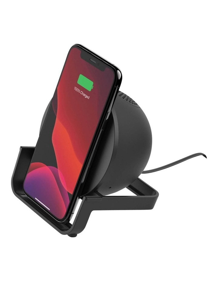 BOOSTUP CHARGE Wireless Charging Stand plus Speaker, Black image 1