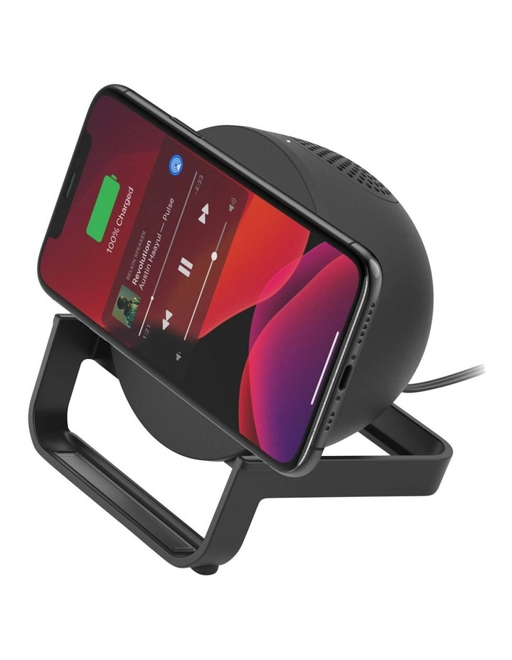 BOOSTUP CHARGE Wireless Charging Stand plus Speaker, Black image 4