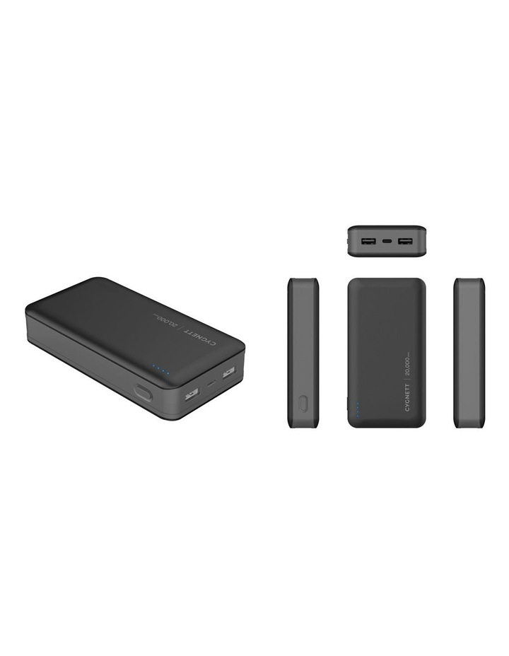 ChargeUp Ultra Black 20K 30W PD USB-C Power Bank CY3343PBCHE image 1