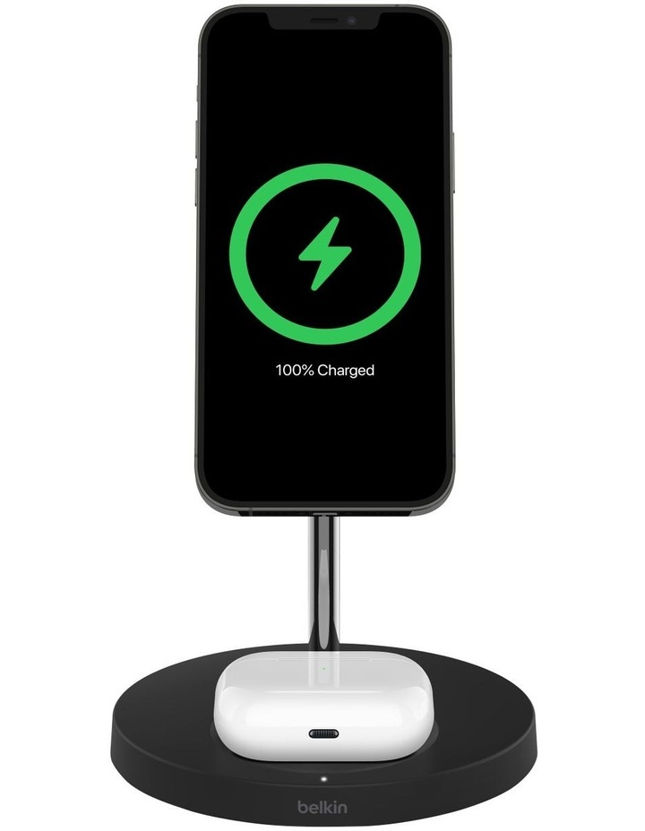 BOOST CHARGE PRO 2-in-1 Wireless Charger Stand with MagSafe Black WIZ010AUBK image 2