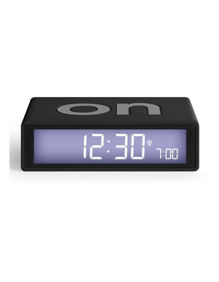 Flip Clock Reversible LCD Alarm Clock- Black image 1