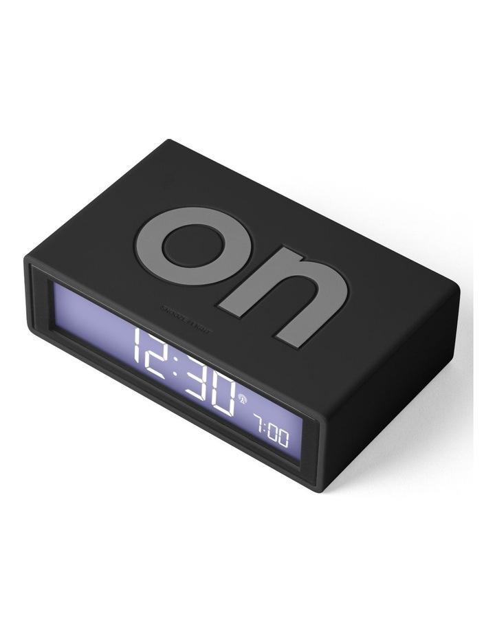 Flip Clock Reversible LCD Alarm Clock- Black image 2