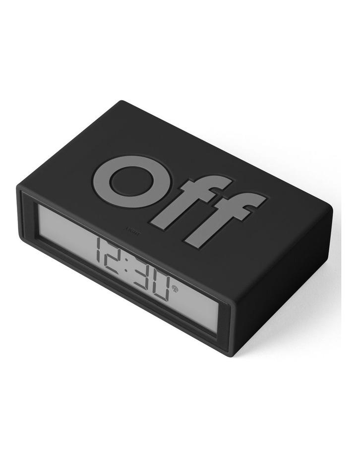 Flip Clock Reversible LCD Alarm Clock- Black image 3