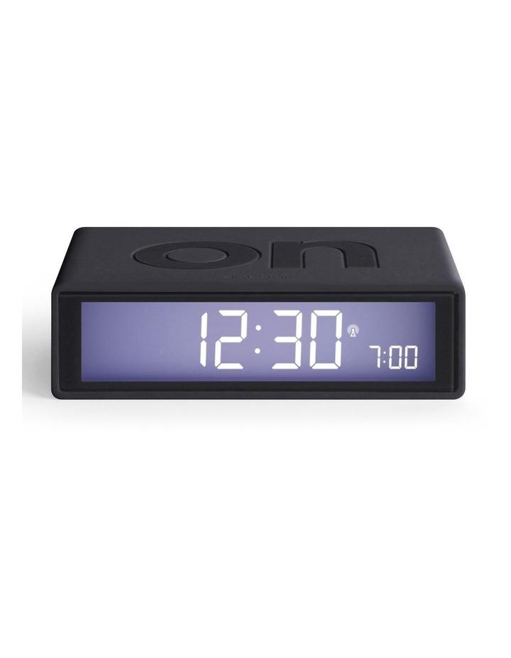Flip Clock Reversible LCD Alarm Clock- Dark Grey image 1