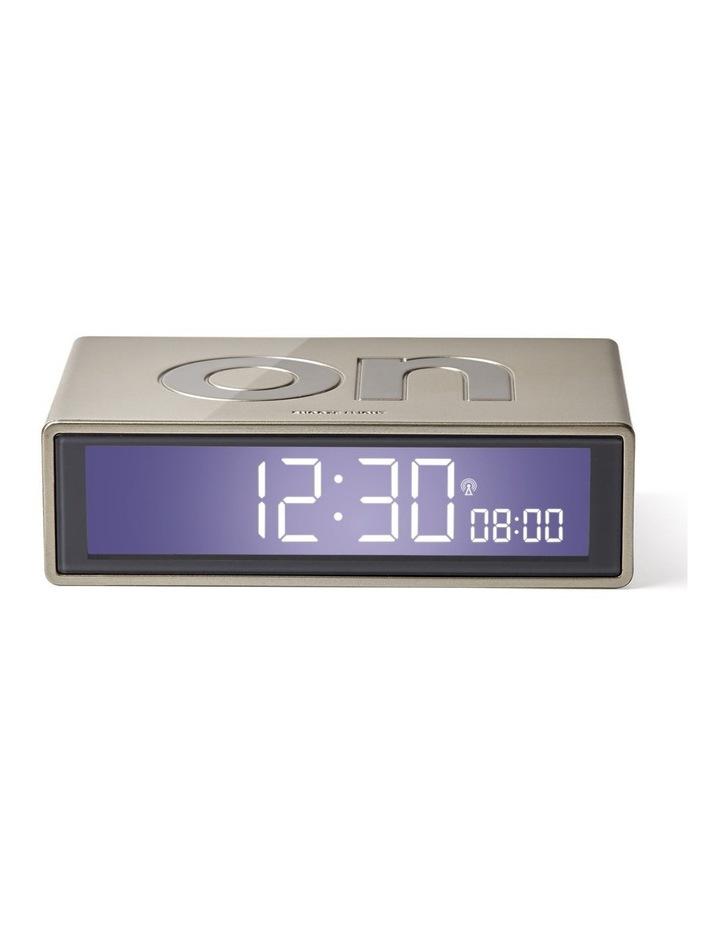 Flip Clock Reversible LCD Alarm Clock- Gold image 1