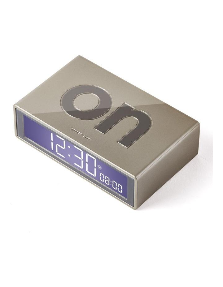 Flip Clock Reversible LCD Alarm Clock- Gold image 2