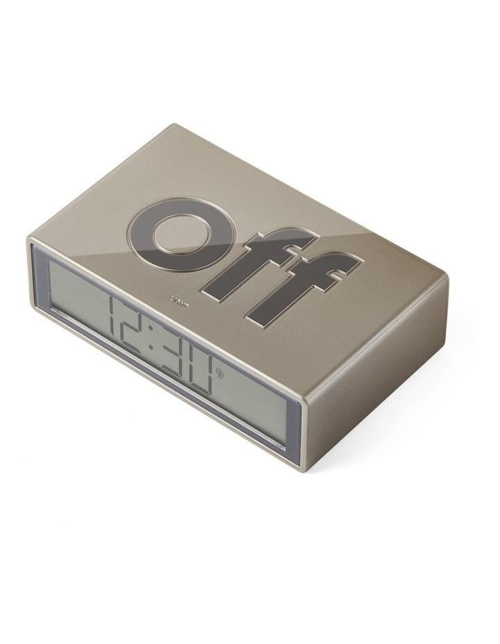 Flip Clock Reversible LCD Alarm Clock- Gold image 3