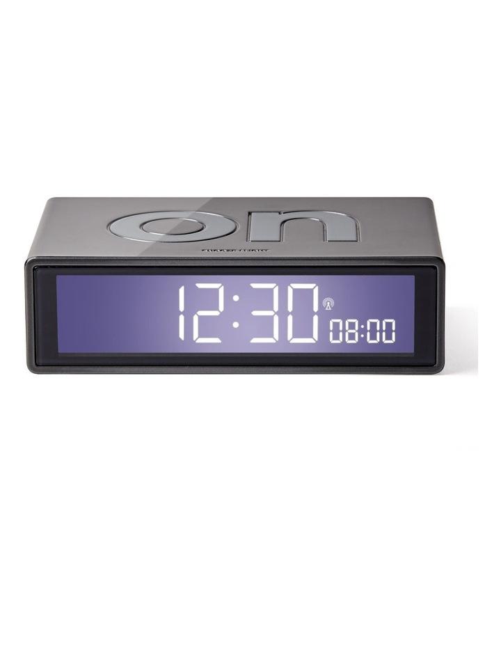 Flip Clock Reversible LCD Alarm Clock- Gun Metal image 1