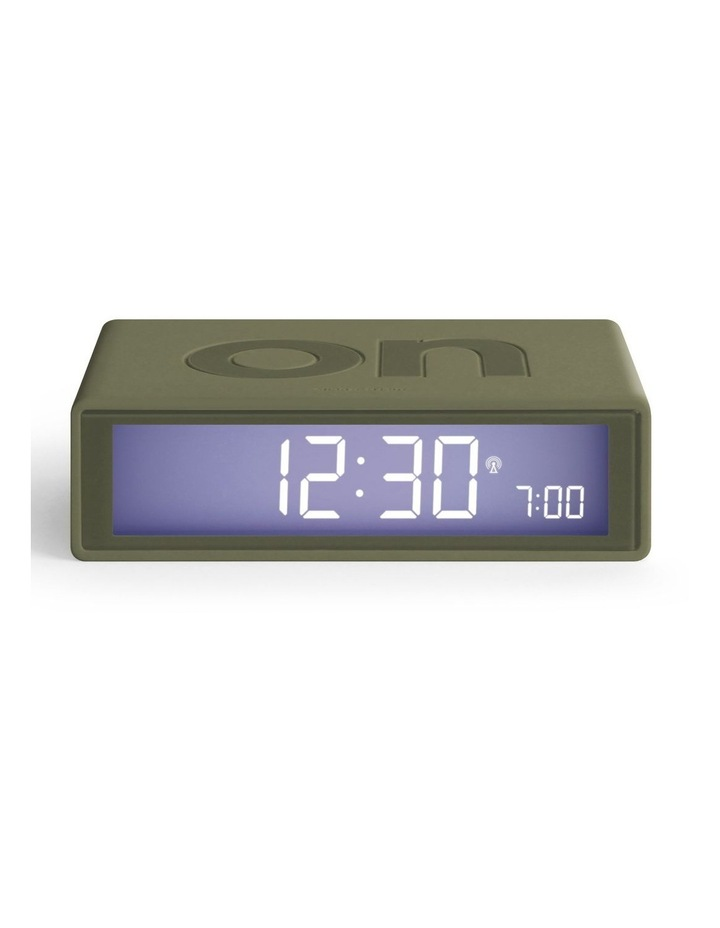 Flip Clock Reversible LCD Alarm Clock- Khaki image 1