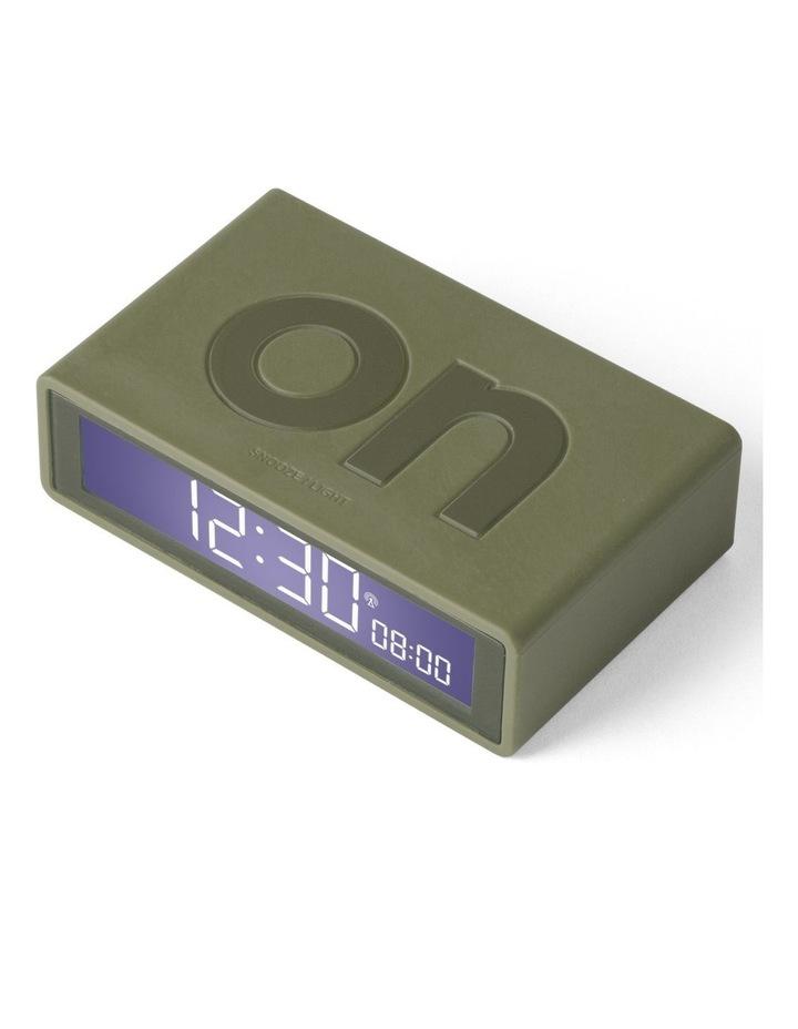 Flip Clock Reversible LCD Alarm Clock- Khaki image 2