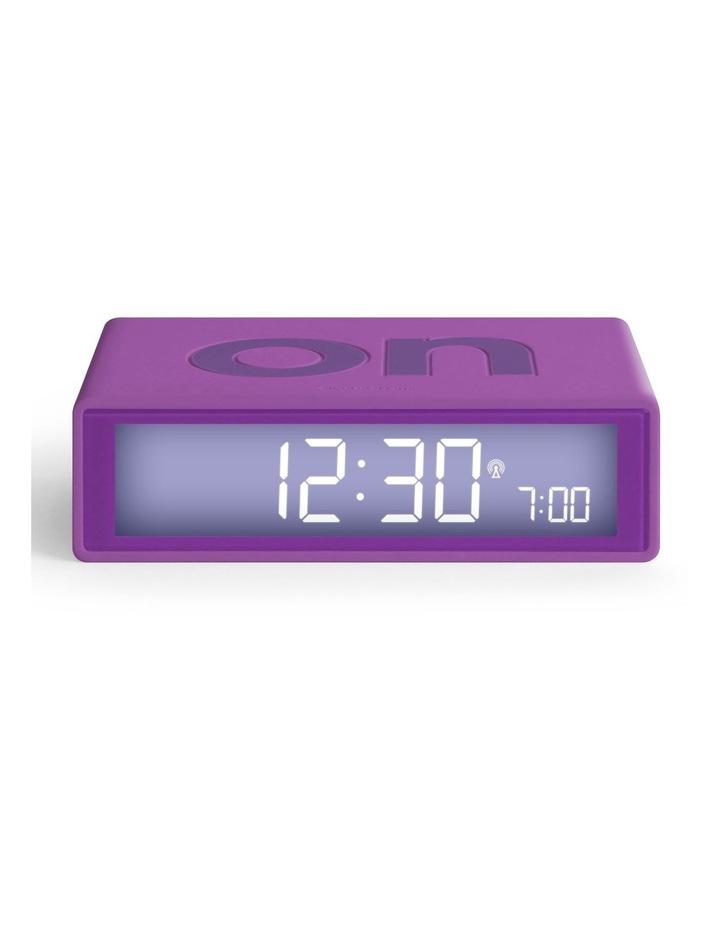 Flip Clock Reversible LCD Alarm Clock- Purple image 1