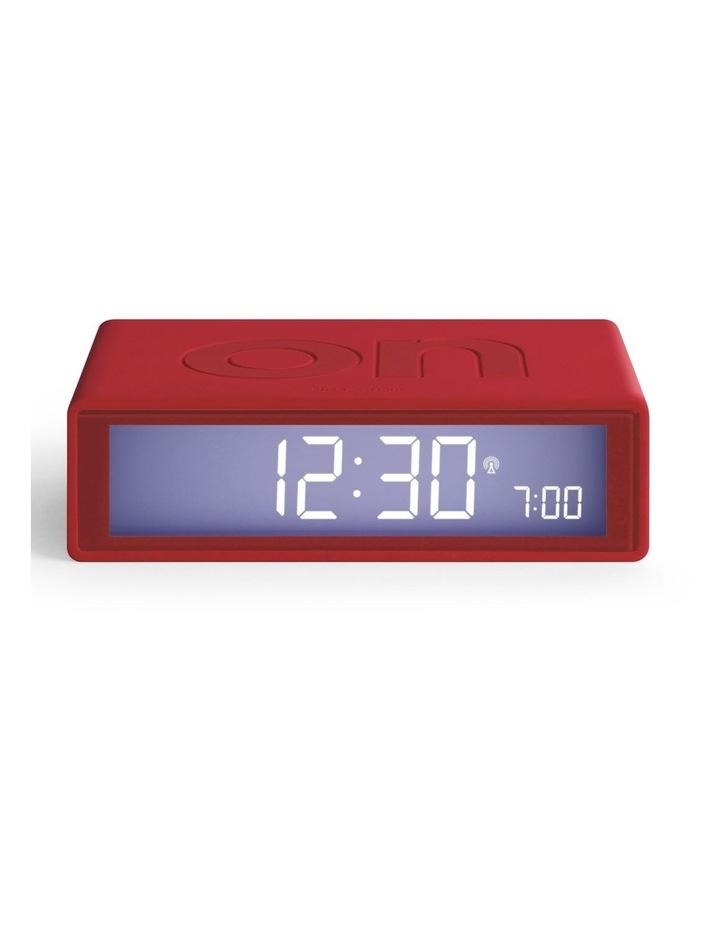 Flip Clock Reversible LCD Alarm Clock- Red image 1