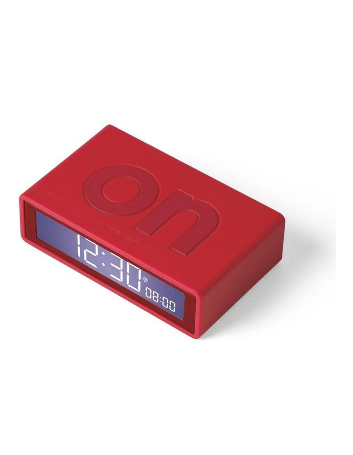 Flip Clock Reversible LCD Alarm Clock- Red image 2