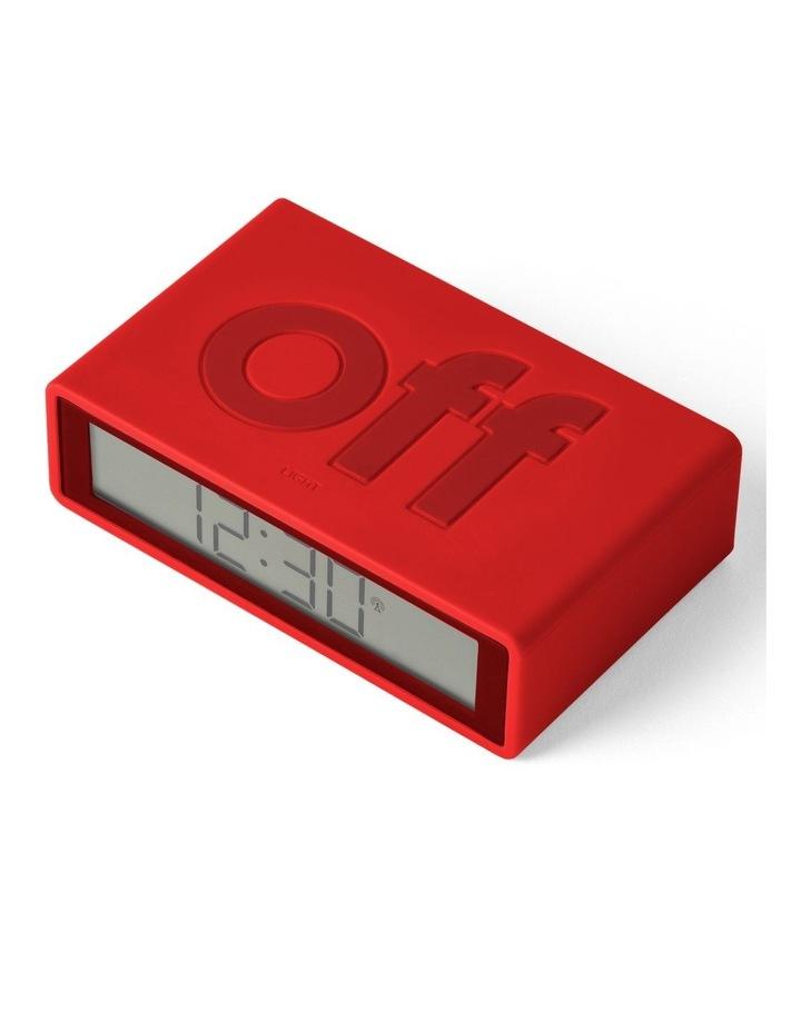 Flip Clock Reversible LCD Alarm Clock- Red image 3