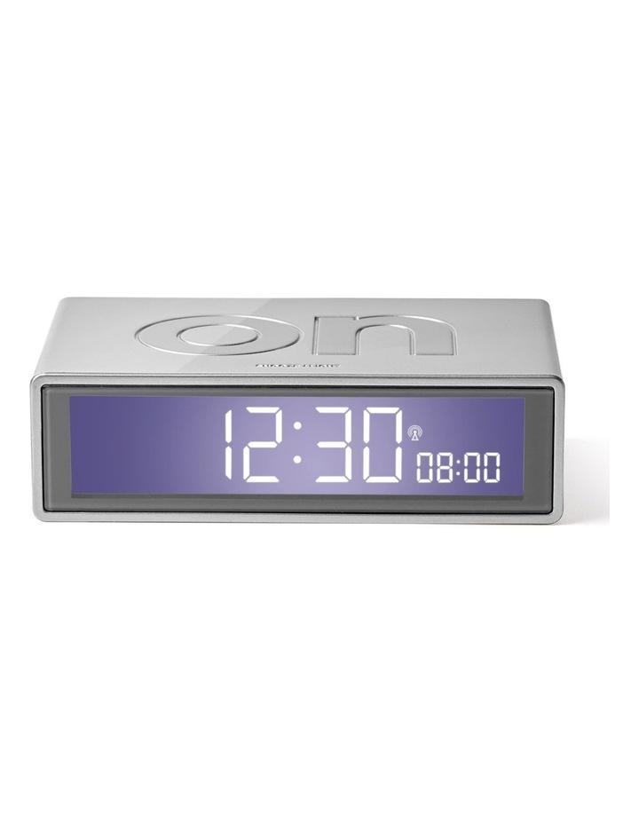 Flip Clock Reversible LCD Alarm Clock- Silver image 1