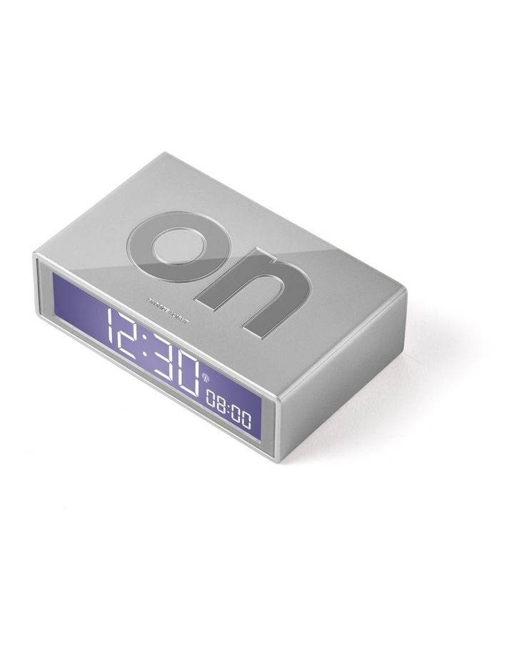 Flip Clock Reversible LCD Alarm Clock- Silver image 2