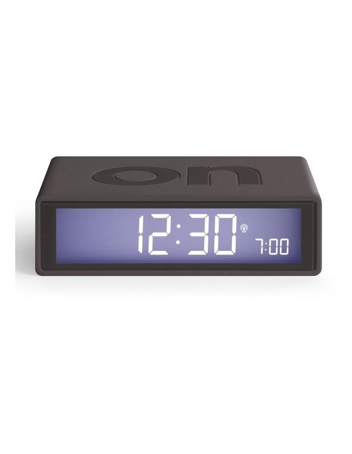 Flip Clock Reversible LCD Alarm Clock- Warm Grey image 1