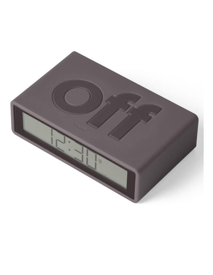 Flip Clock Reversible LCD Alarm Clock- Warm Grey image 3