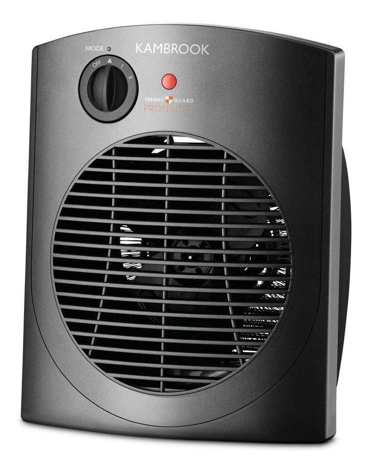 KFH600 2400 Watt Upright Fan Heater: Black image 1