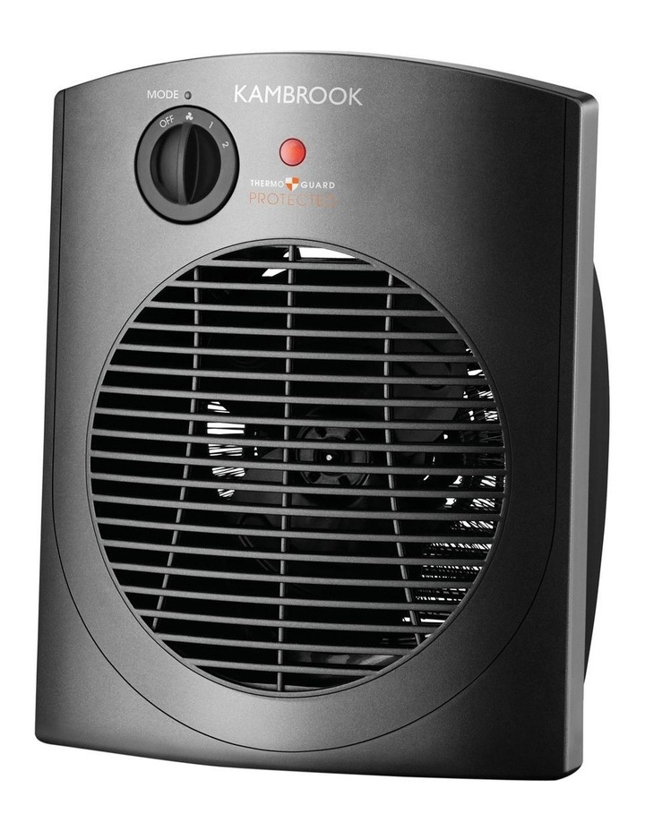 Upright Fan Heater with Oscillation: Grey KFH660 image 1