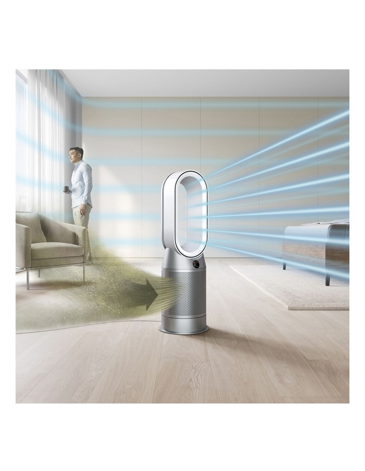 Hot Cool Purifying Fan Heater in White/Silver 368801-01 image 3
