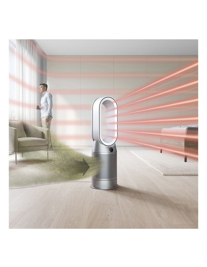 Hot Cool Purifying Fan Heater in White/Silver 368801-01 image 5