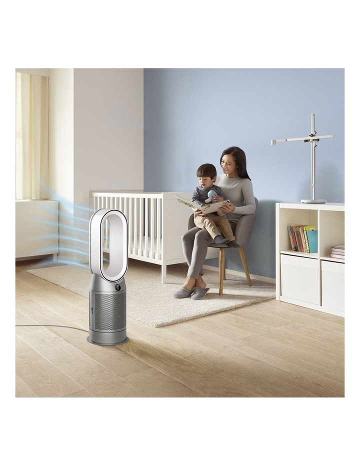Hot Cool Purifying Fan Heater in White/Silver 368801-01 image 7