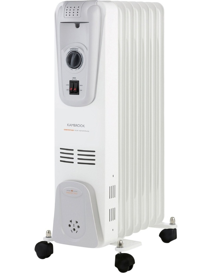 7 Fin Oil Column Heater: White image 2