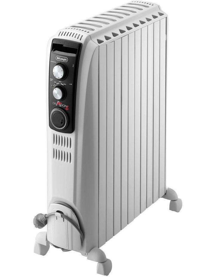 2400W Dragon 4 oil column heater: White TRD42400MT image 1